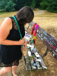 Memorial bench for Kurt Cobain