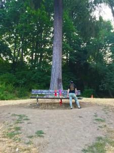 Kurt Cobain Memorial Bench, Seattle, Washington