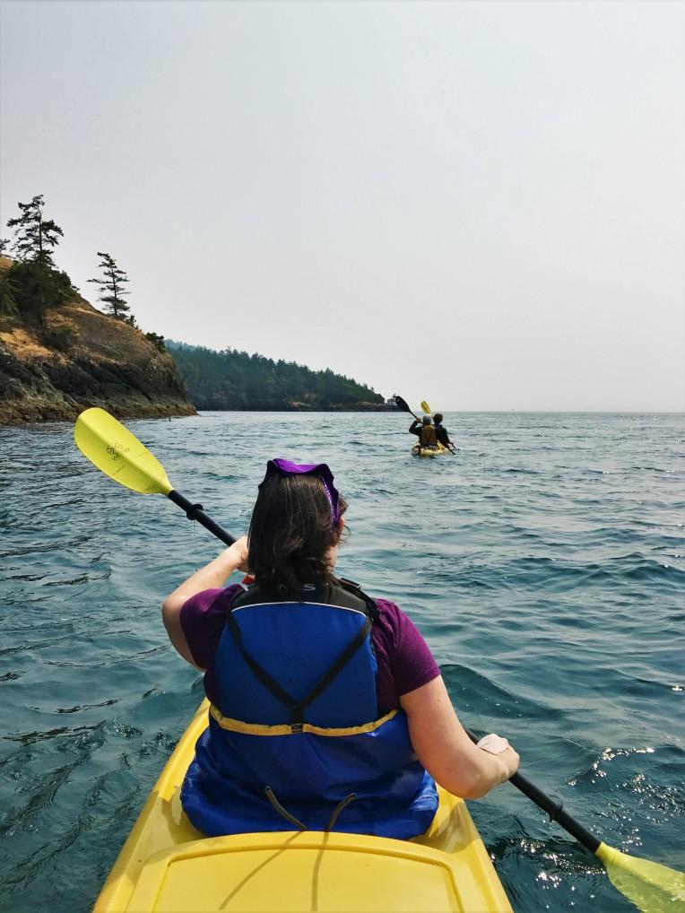 Kayaking is so much fun.