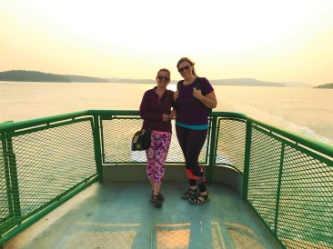 A quick picture before we both passed out inside the ferry. What an amazing day.