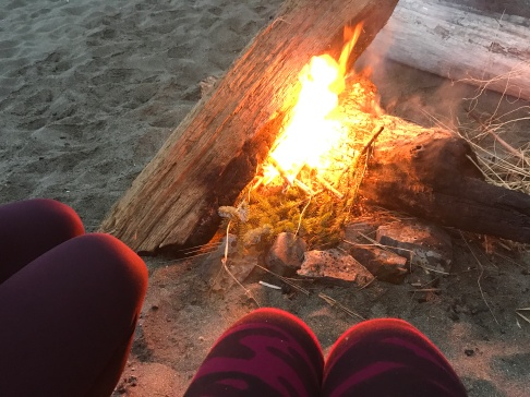 We did it! We got our fire going and sat down to warm up and enjoy the view.
