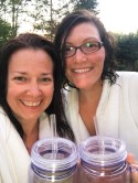 Freshly showered with our mugs full of wine, totally ready for a night in the hot tub, under the stars.