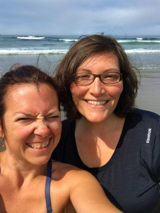 selfie on shi shi beach olympic national park