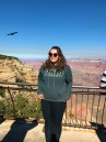 Mary enjoying her first trip to the Grand Canyon