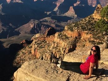 enjoying the view at grand canyon national park