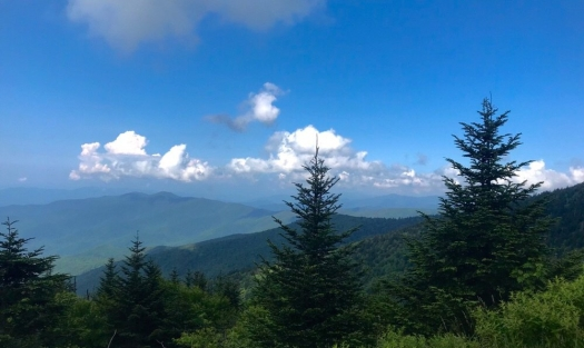 great smoky mountains national park view from clingman's dome