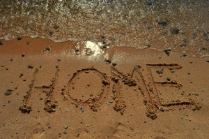 home written in the sand