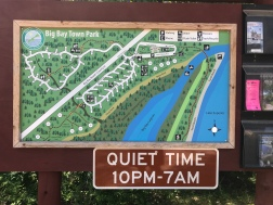 Big Bay Town Park campsite and beach map