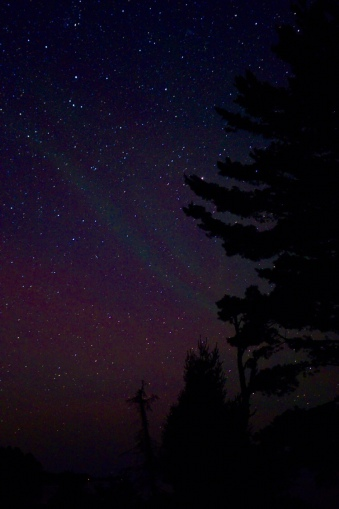 Northern Lights from Big Bay in July
