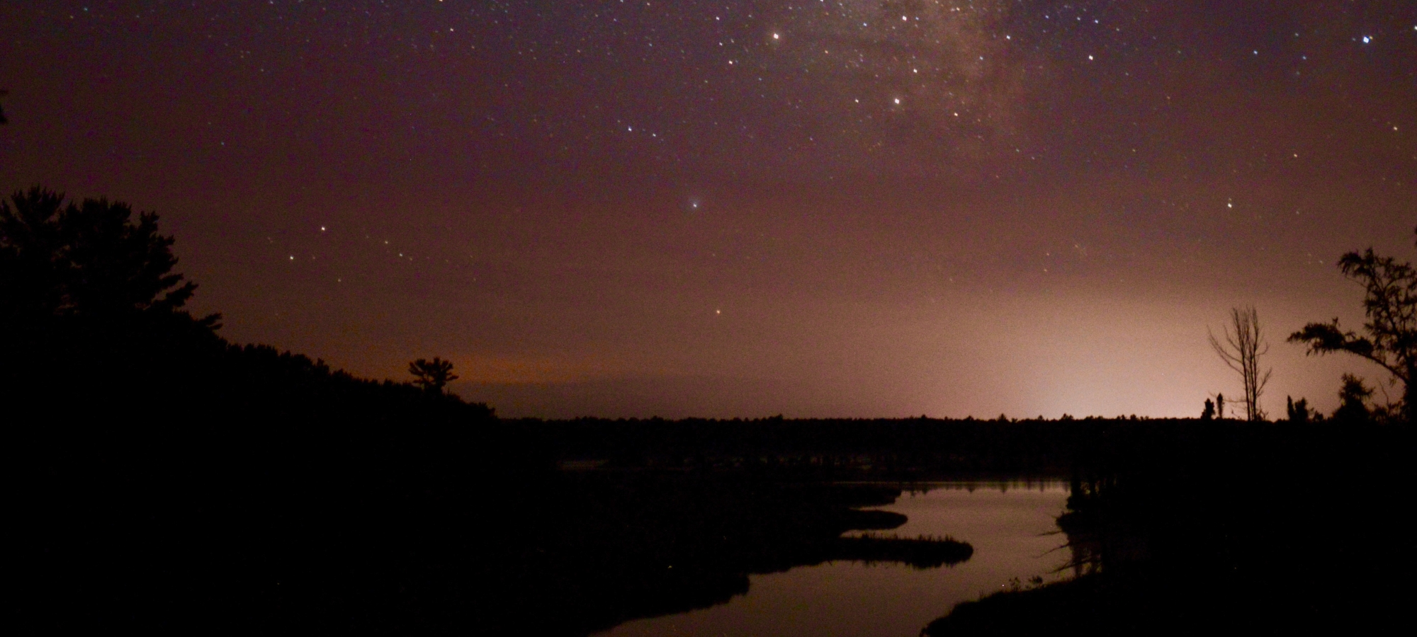 The Milky Way over the Big Bay Lagoon